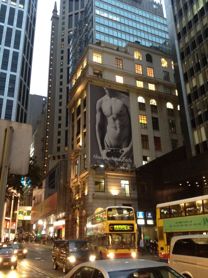 A&f ad on Pedder Building in