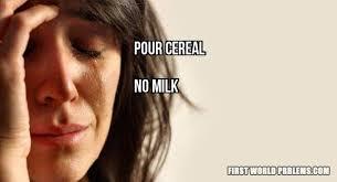 No milk